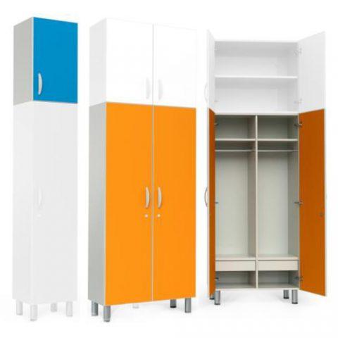 Garderobne omarice, stoli in mize